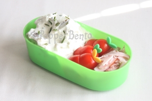 Chive & Cream Cheese potato salad bento