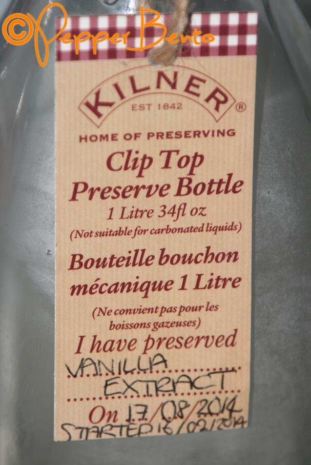 Vanilla Extract Kilner Label