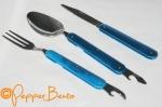 Yellowstone 3 piece foldable camping cutlery set o